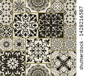 seamless patchwork tile with... | Shutterstock .eps vector #1428216587