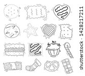 cookies and biscuits theme... | Shutterstock .eps vector #1428217211