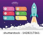 vector infographic circle with... | Shutterstock .eps vector #1428217361