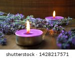 spa massage setting with... | Shutterstock . vector #1428217571