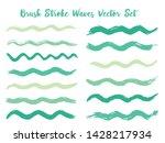modern brush stroke waves... | Shutterstock .eps vector #1428217934