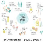 items collection for eco zero... | Shutterstock .eps vector #1428219014