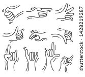 sign language theme doodle... | Shutterstock .eps vector #1428219287