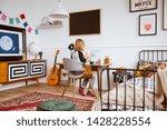genderless bedroom with kid...   Shutterstock . vector #1428228554