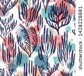 coral polyps seamless pattern.... | Shutterstock .eps vector #1428228881