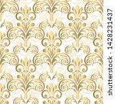 seamless vintage wallpaper or... | Shutterstock .eps vector #1428231437