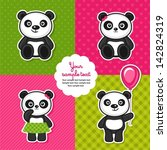 set of panda bears | Shutterstock .eps vector #142824319