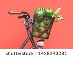 Big Bicycle Basket Full Of...
