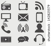vector communication icons. | Shutterstock .eps vector #142825579