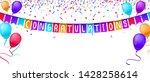 congratulations banner template ... | Shutterstock .eps vector #1428258614