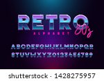 retro font effect based on the... | Shutterstock .eps vector #1428275957