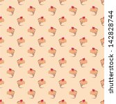 seamless vector pattern or...   Shutterstock .eps vector #142828744