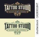vintage tatoo logo template....   Shutterstock .eps vector #1428301847