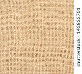 texture of the old burlap   | Shutterstock . vector #142832701