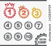 vector stamp for ranking | Shutterstock .eps vector #142834939