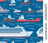ships vector boats or cruise... | Shutterstock .eps vector #1428356657