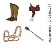 isolated object of horseback... | Shutterstock .eps vector #1428361277