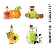 vector illustration of bottle... | Shutterstock .eps vector #1428363317
