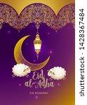 vector muslim illustration eid... | Shutterstock .eps vector #1428367484