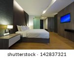 Stock photo luxury modern hotel room bangkok thailand 142837321