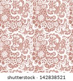 lace seamless pattern with... | Shutterstock .eps vector #142838521