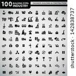 100 industry  building ... | Shutterstock .eps vector #142838737