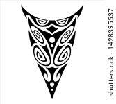 tattoo ornament maori style for ... | Shutterstock .eps vector #1428395537