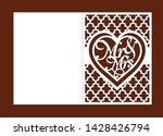 laser cut template of wedding...   Shutterstock .eps vector #1428426794