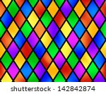 Stained Glass Pattern  Vector...