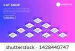 cat shop web page template with ... | Shutterstock .eps vector #1428440747