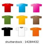 set of tee shirts vector   Shutterstock .eps vector #14284432