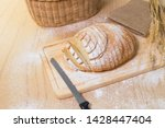 Freshly Baked Bread Cut With...