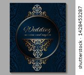 wedding invitation card with...   Shutterstock .eps vector #1428453287