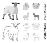 vector design of sheep and goat ... | Shutterstock .eps vector #1428457661