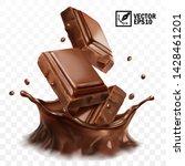 3d realistic vector splash of... | Shutterstock .eps vector #1428461201