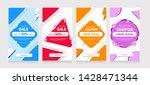 set of sale social media for...   Shutterstock .eps vector #1428471344