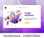 flat illustration target... | Shutterstock .eps vector #1428478361