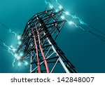 Pylon. Concept Of Electricity...