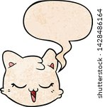 cartoon cat face with speech... | Shutterstock .eps vector #1428486164