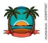 original vector illustration in ... | Shutterstock .eps vector #1428497087