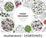 italian food top view menu... | Shutterstock .eps vector #1428524651