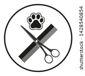 illustration animal grooming.... | Shutterstock .eps vector #1428540854
