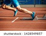 feet runner sprinter fast start ... | Shutterstock . vector #1428549857