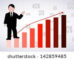 businessman the representing... | Shutterstock . vector #142859485
