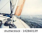 sailing yacht on the race | Shutterstock . vector #142860139