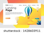 landing page with hot air...