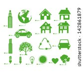 sustainable icons over white... | Shutterstock .eps vector #142861879