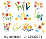 collection of wild and garden... | Shutterstock .eps vector #1428630371