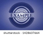 example emblem with jean... | Shutterstock .eps vector #1428637664
