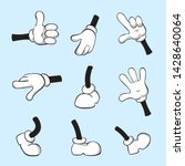 cartoon hands and legs set for... | Shutterstock . vector #1428640064